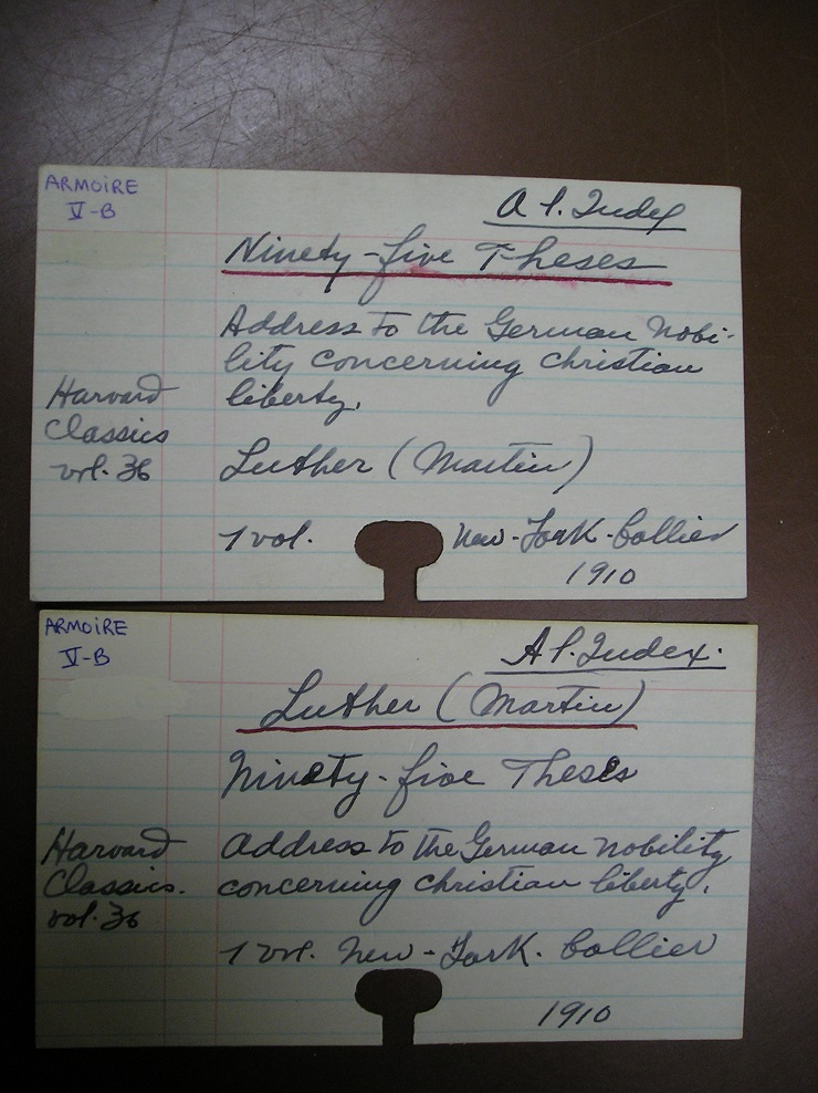 Some marks wrote in book cards about the Index photo 4